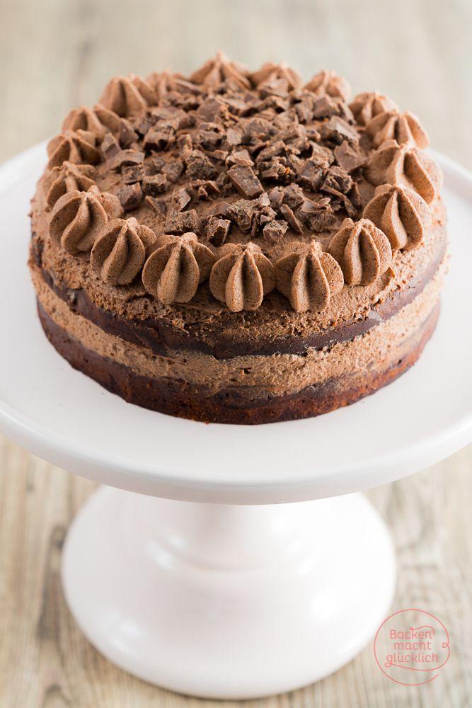 Schokoladen Brownie Torte Rezept Backenmachtglucklich Rezepte