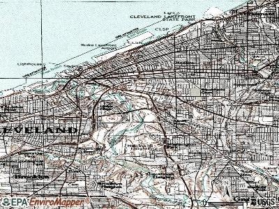 topographic map cleveland ohio Cleveland Topographic Map Cleveland Ohio Topographic Map