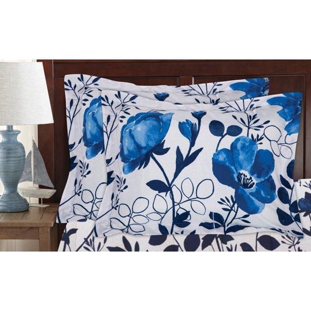 Mainstays Kamala Bed in a Bag Coordinating Comforter Set, Blue