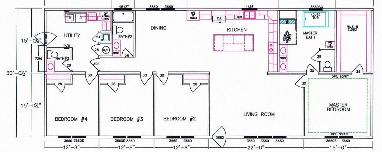 4 Bedroom Floor Plan F5080 Bedroom floor plans
