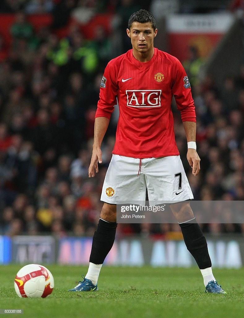 Cristiano Ronaldo Of Manchester United In Action During The Barclays Cristiano Ronaldo Cristiano Ronaldo Free Kick Manchester United Ronaldo