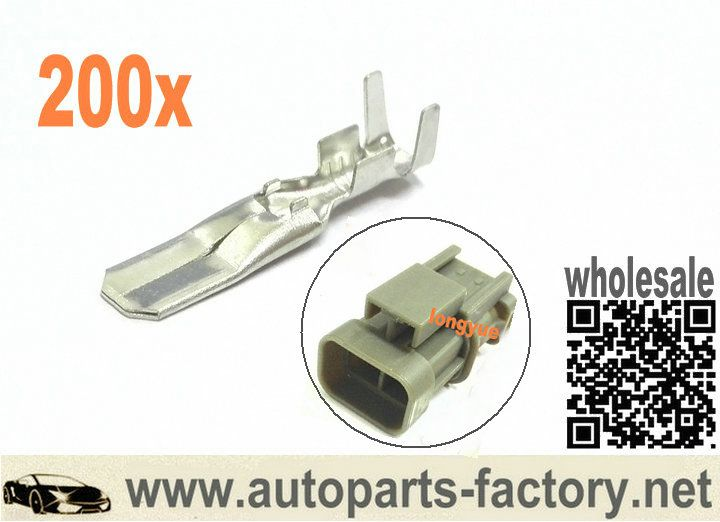 200pcs Male Terminals For Alternator Connector Fit Bosch