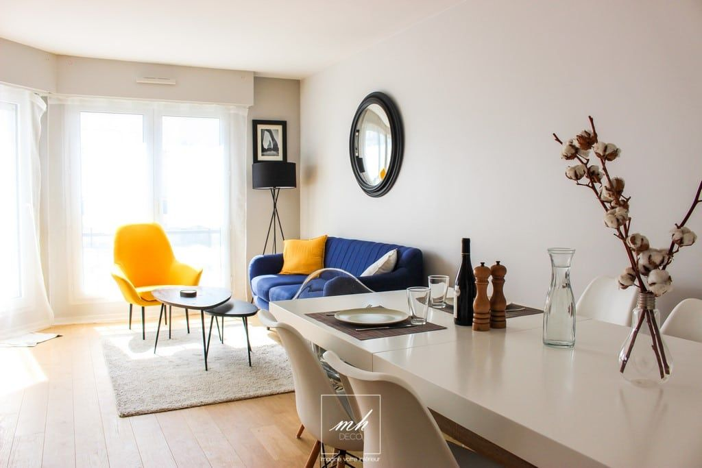Un salon séjour contemporain à Suresnes (92), par Eva Ivo, notre