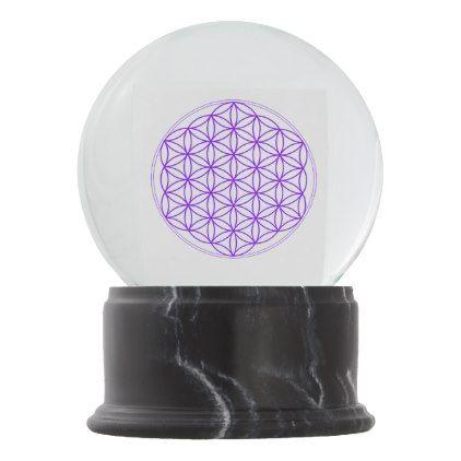 Snow Globe Flower Of Vida Zazzle Com Globe Flower Snow Globes