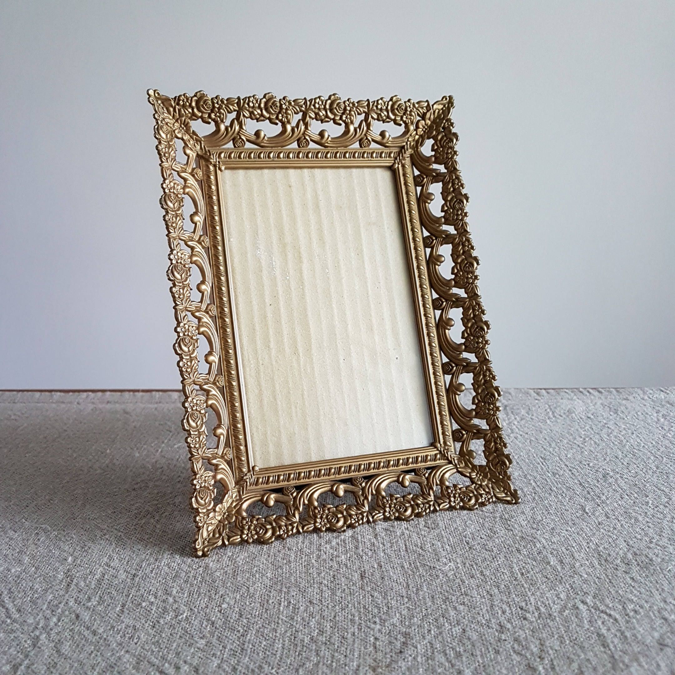 4 x 6 ornate gold plastic picture frame convex glass 4 x 6 ornate gold plastic picture frame convex glass hollywood jeuxipadfo Images