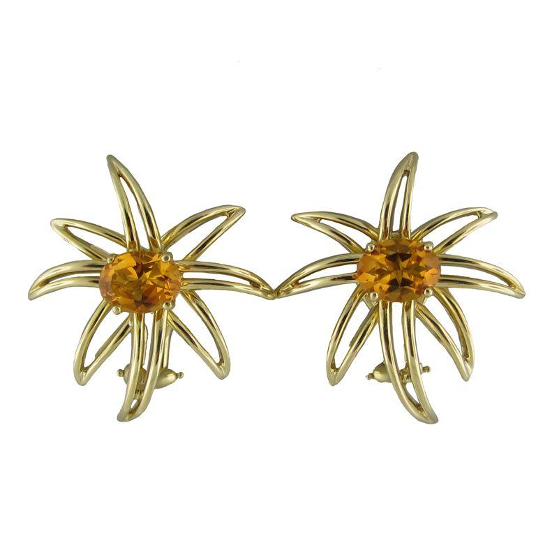 a40e41f774ddb TIFFANY and CO Fireworks Gold Citrine Earrings | Tiffany & Co ...