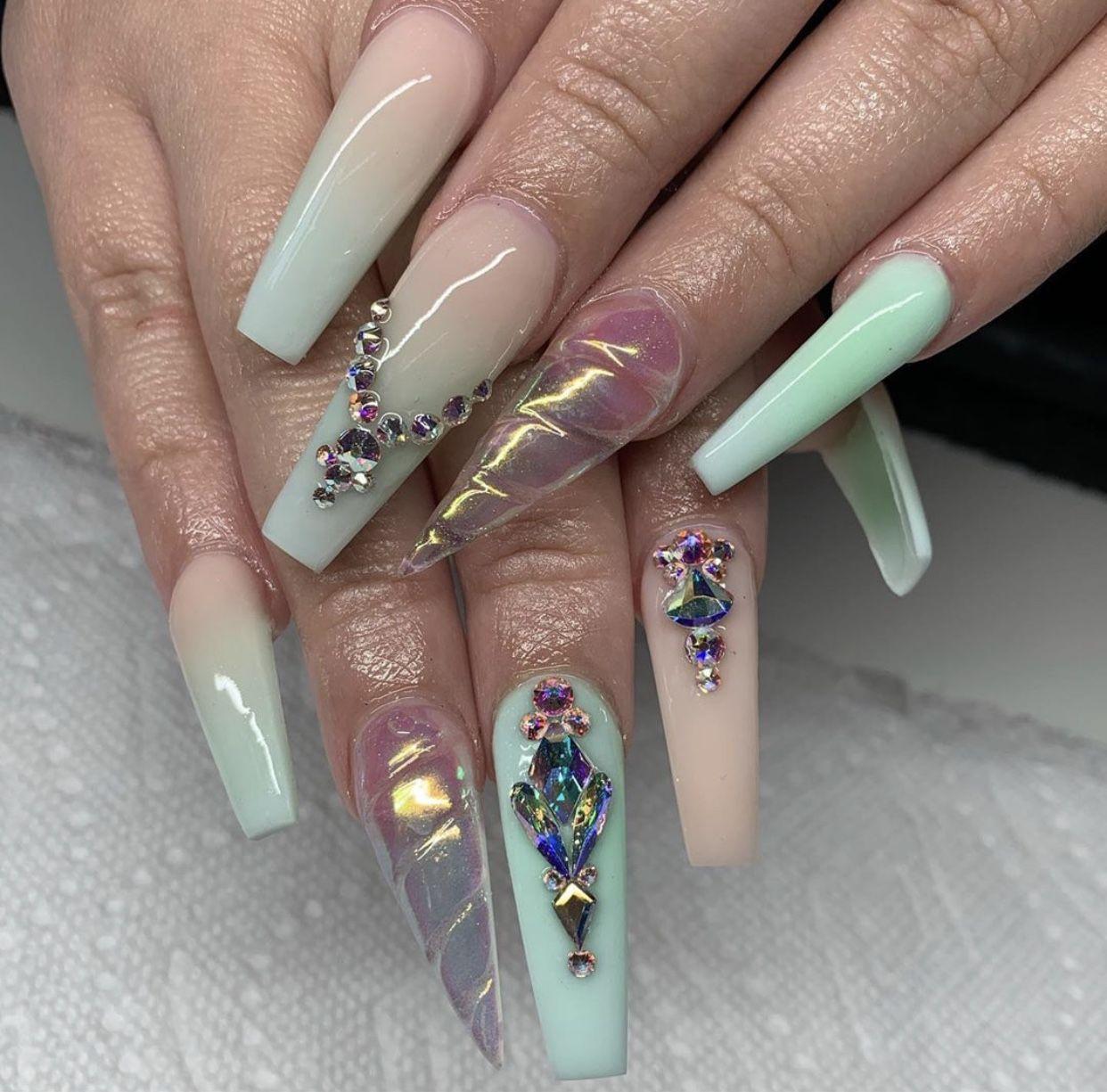 Pin by Ameriah on nails Swag nails, Swarovski nails