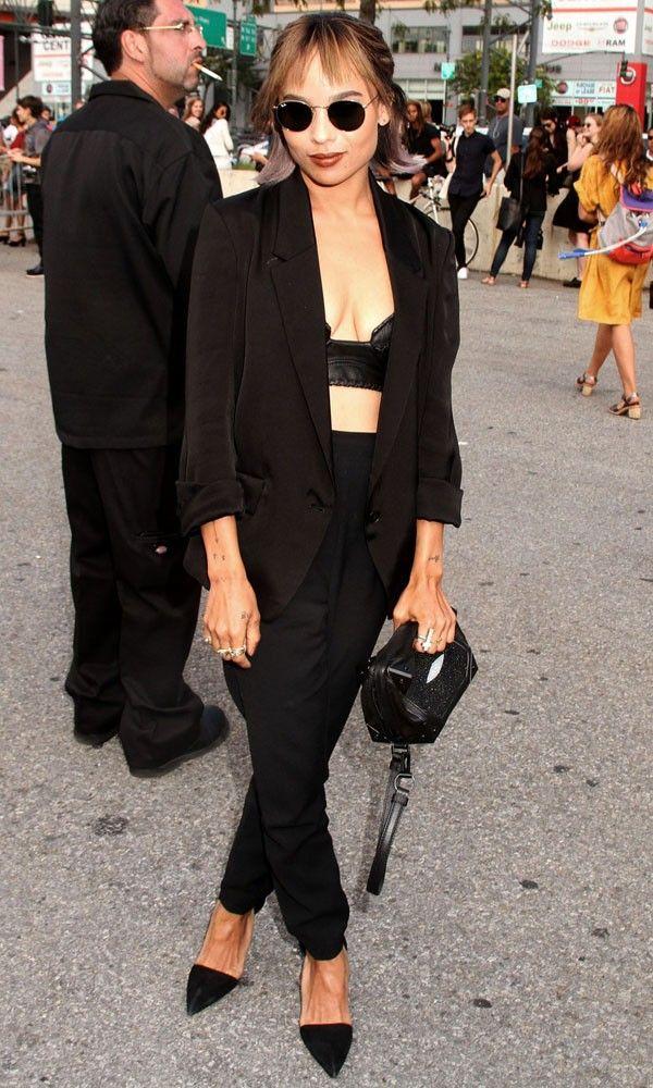 Zoe Kravitz at Alexander Wang show at New York Fashion Week