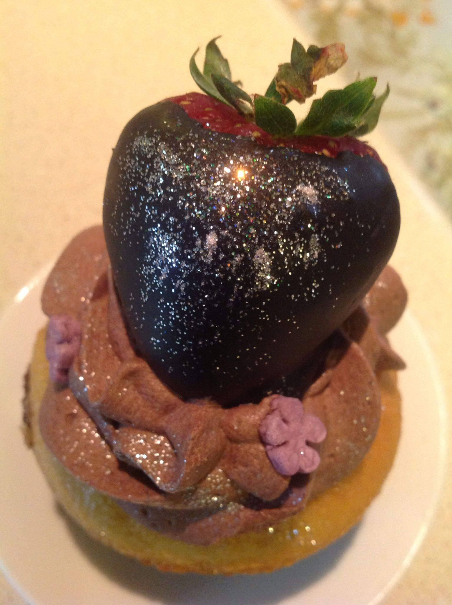 Cupcake con fresa...