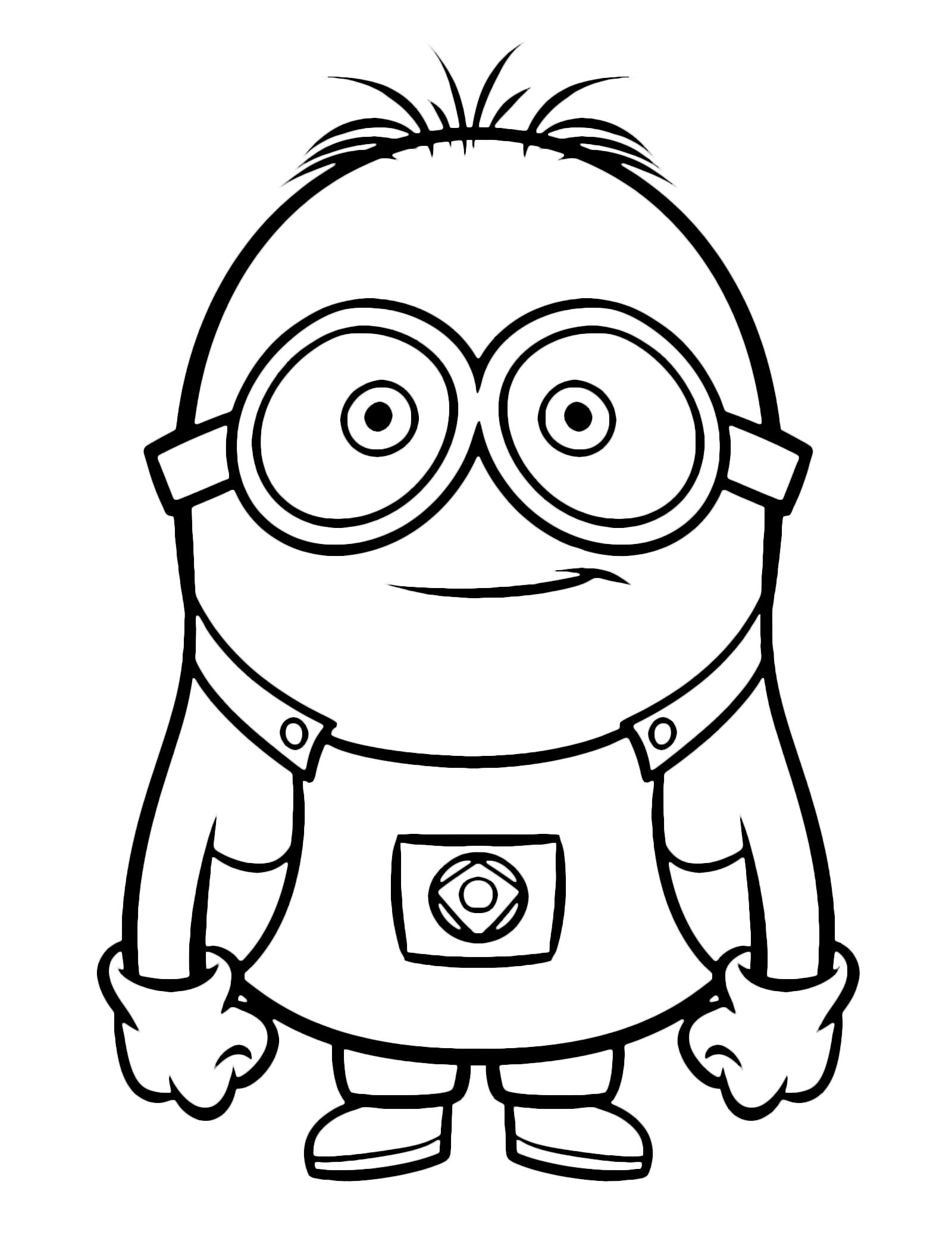 Disegni Da Colorare Minions On Line.Cattivissimo Me Minions Con Due Occhi Scanncut Disegni