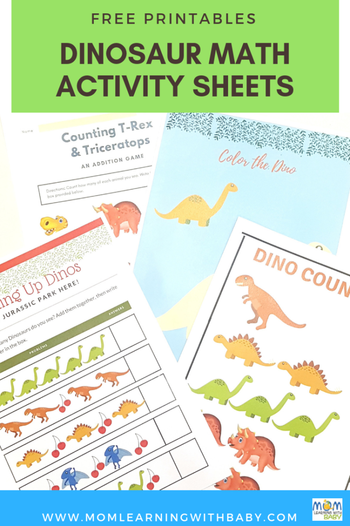Photo of Dinosaur Activity Sheets for Preschoolers- Free Printables – Mom Learning With…