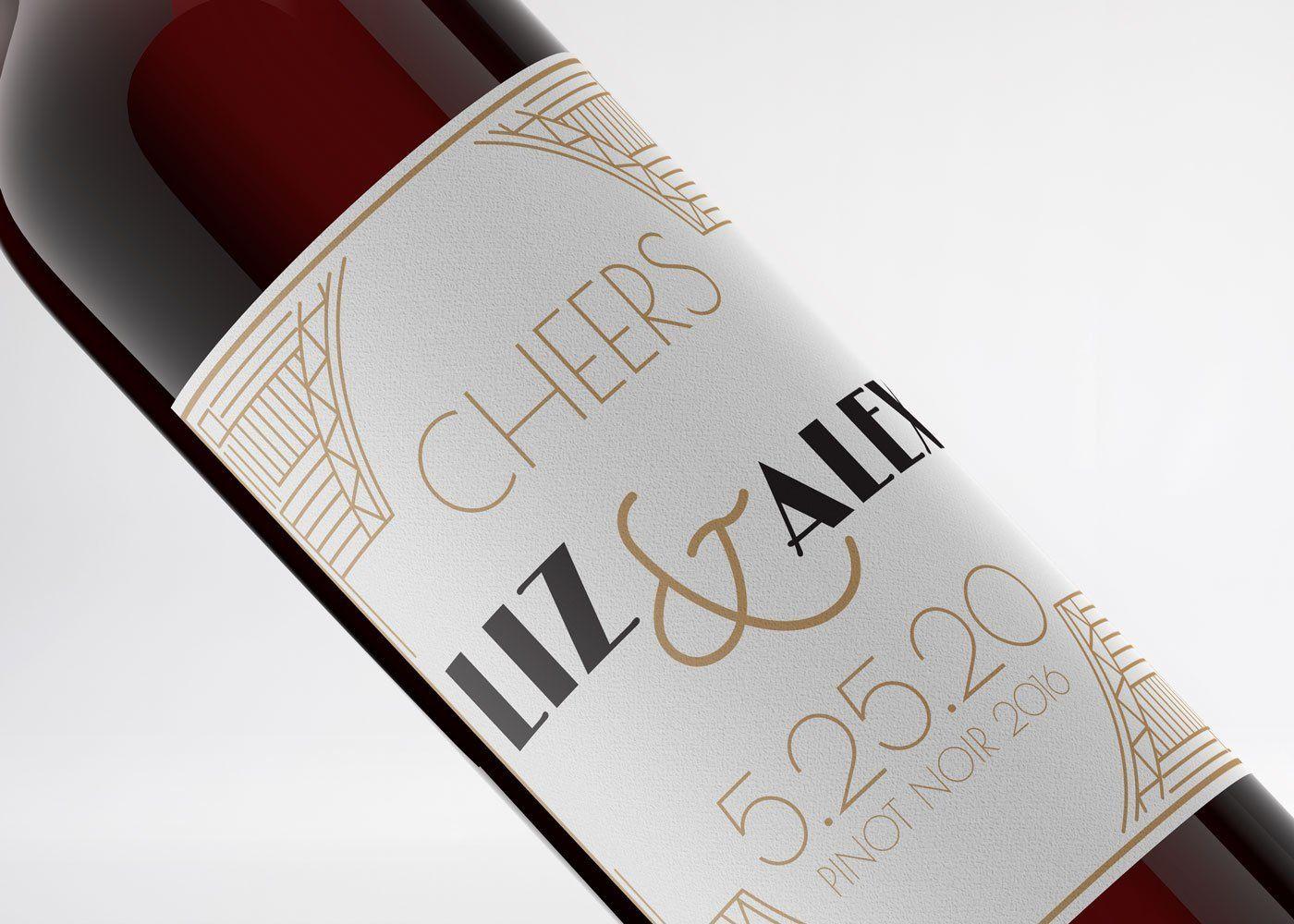 40 large wine bottle white vinyl printable labels 4x5