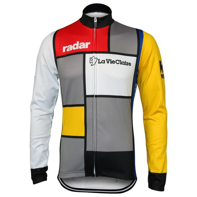 Men Long Sleeve Cycling Jersey Tour De France Bike Wear Winter Fleece And  No Fleece La 297c62b9e