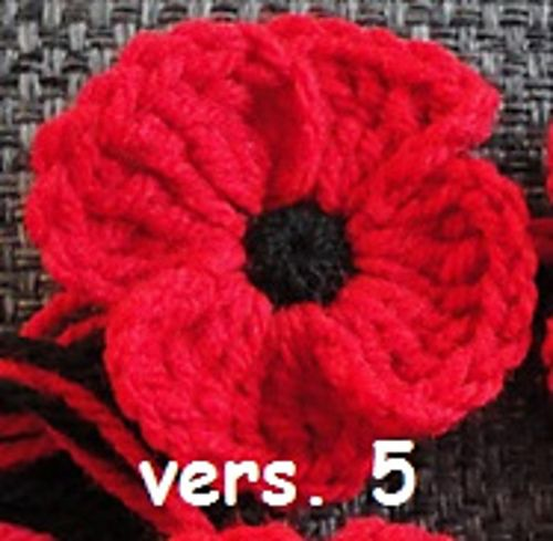 Free Pattern] Crocheted Poppies- 5 Different Versions | Pinterest ...