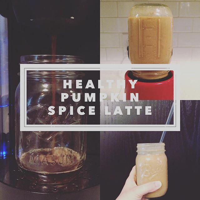 A smoothie that acts like a salad and tastes like a Pumpkin Spice Latte #allidoiswin  Cooled Coffee Splash of almond or cashew milk Vanilla Shakeology 2 T of pumpkin purée  1tsp of maple syrup or to taste Dash pumpkin spice Blend with ice and enjoy