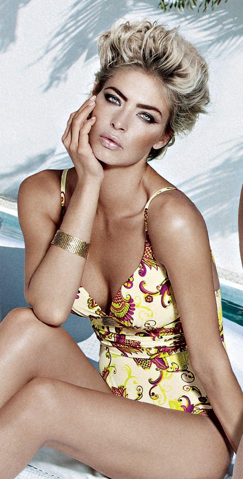 Maryan Mehlhorn 2013 Shangri-La Love yellow Padded Swimsuit.