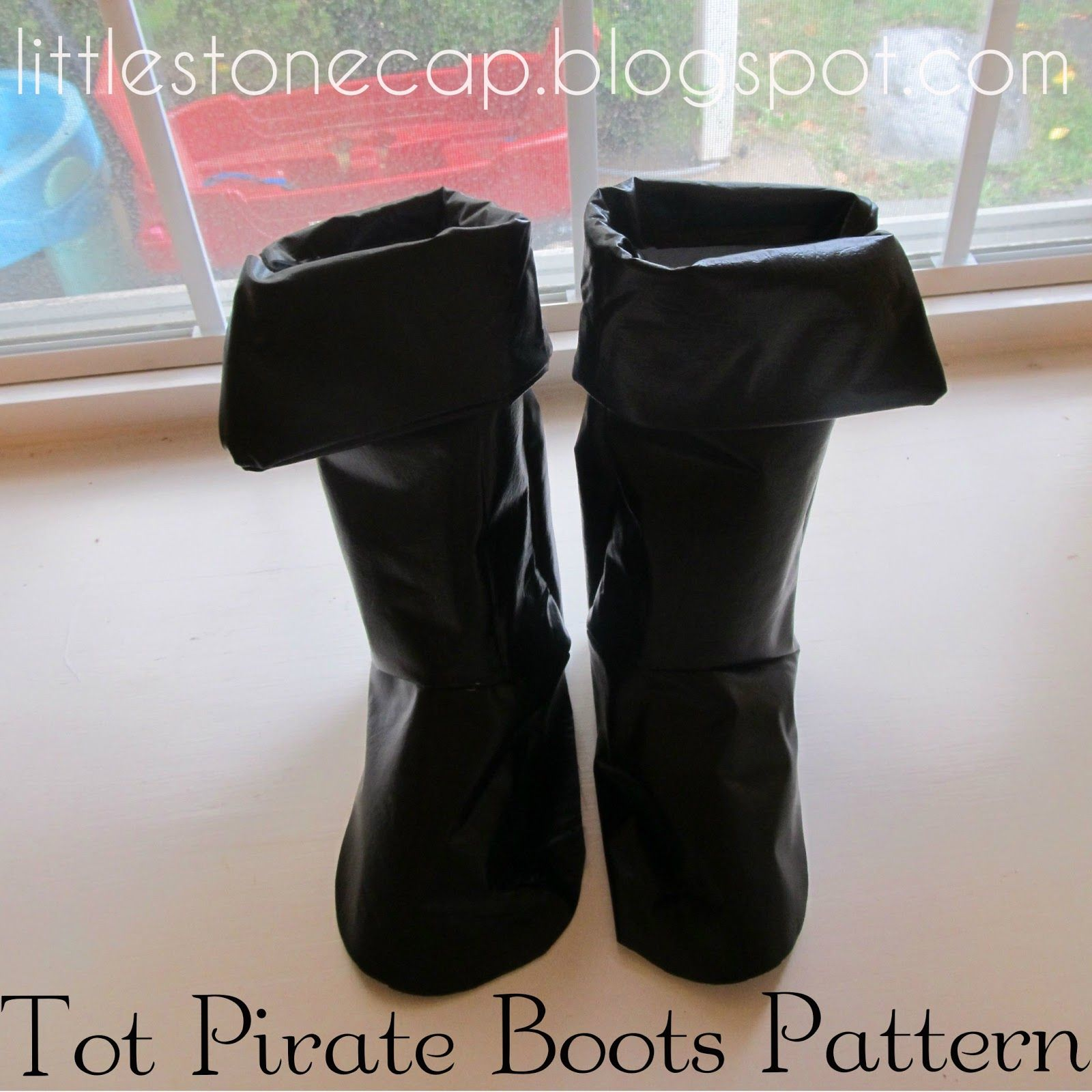 Child's Pirate Boots (part 3 of pirate costume series) #diypiratecostumeforkids