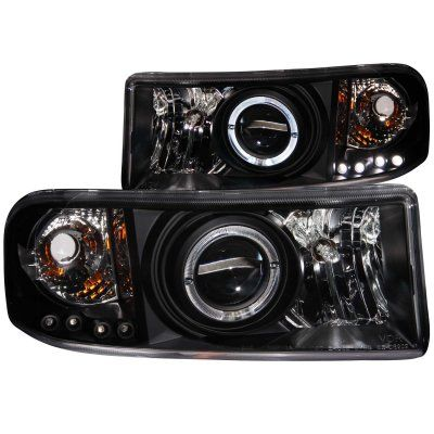 Dodge Ram 2500 1994 2002 Projector Headlights Black Halo Led Projector Headlights Dodge Ram Accessories Dodge Ram