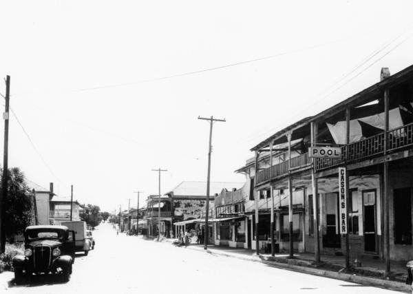 Street scene August 15, 1949 - Cedar Key, Florida