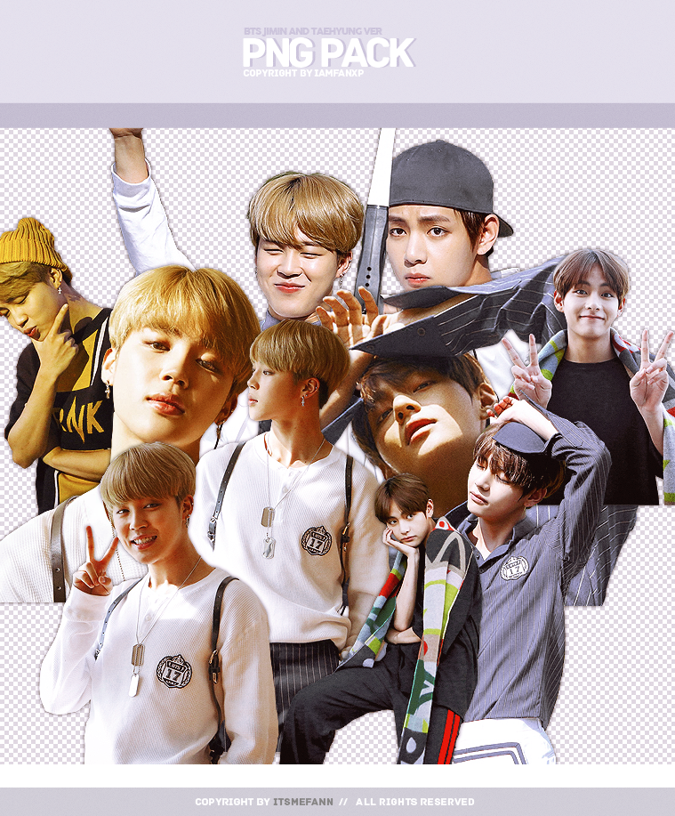 BTS JIMIN AND V PNG PACK ( 10P ) By Iamfanxp