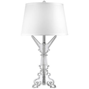 Clear Acrylic 27 High French Candlestick Table Lamp French Candlesticks Candlestick Table Candlesticks