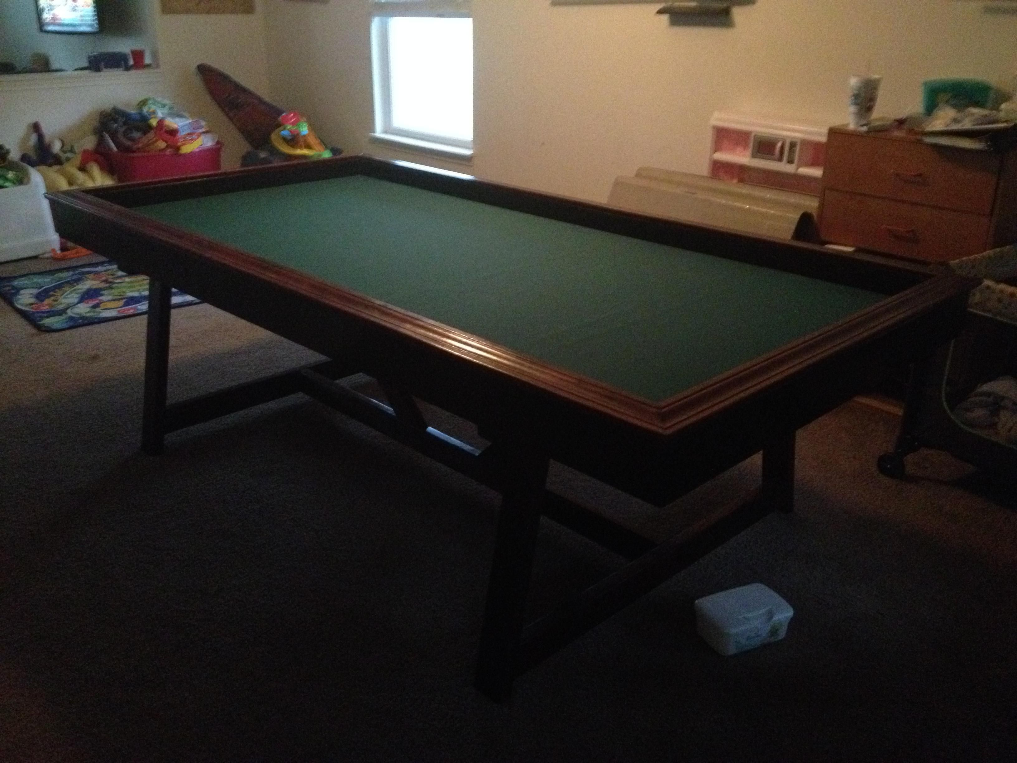 Build your own pool table plans - I Built A Gaming Table