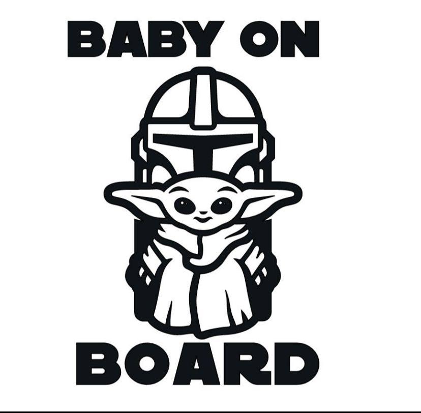 Baby Yoda Star Wars Mandalorian Color Decal Sticker-Free Shipping