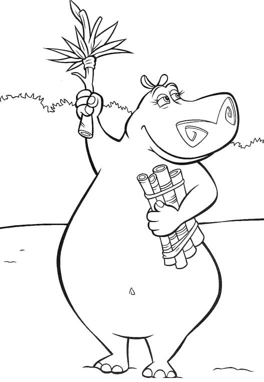Pictures Glouria Madagascar Coloring Pages - Madagascar Coloring ...