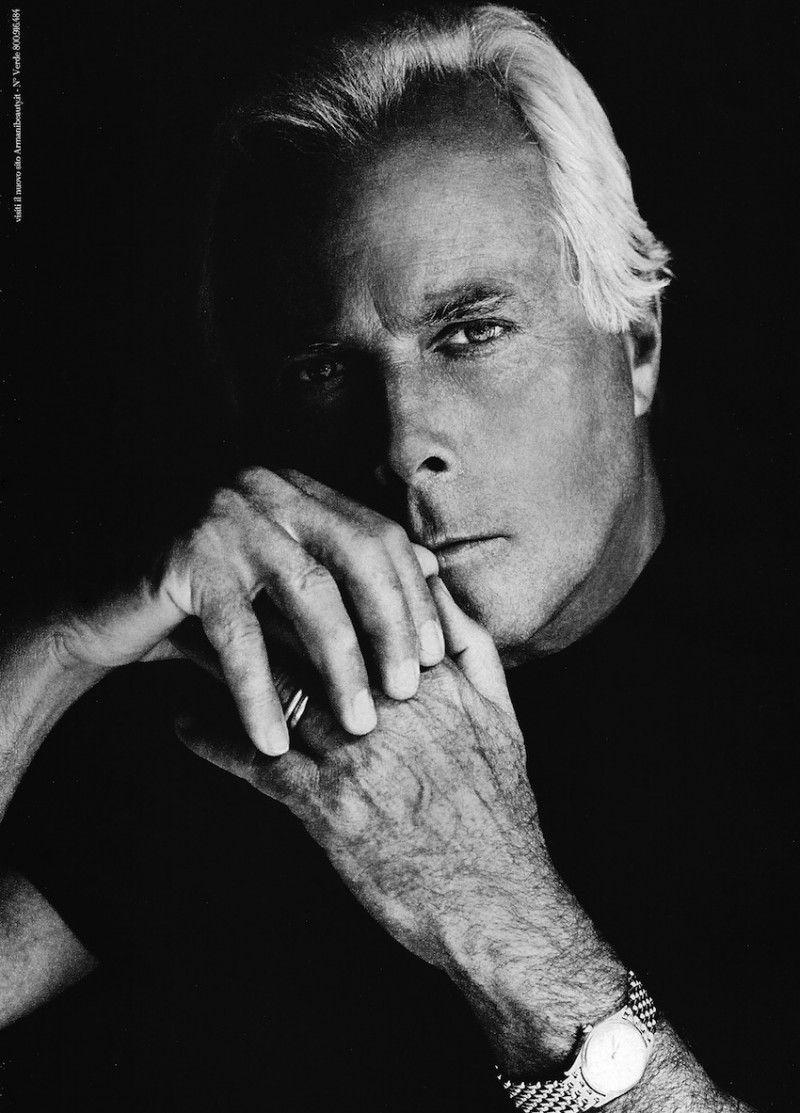 Giorgio Armani Fronts Armani's Eau pour Homme Fragrance ...