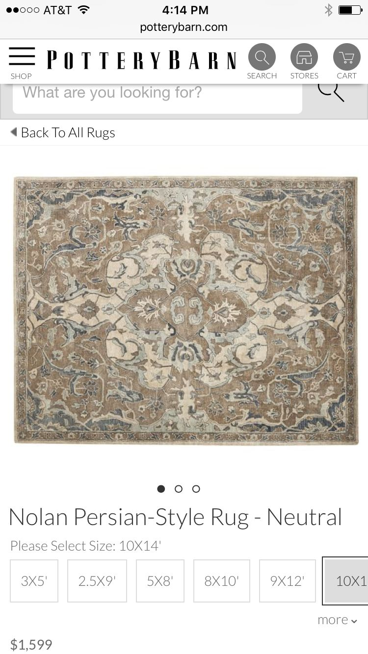 Pottery Barn Nolan Persian Style Rug With Images
