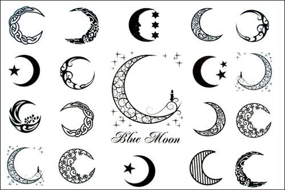 Tattoo Stencils Printable Moon: New Design New Release Blue Moon