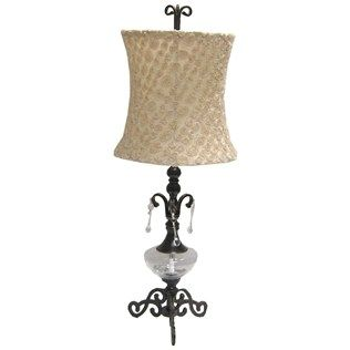 Hobby Lobby Lamp Shades Metal Lamp With Glass Center And Rosette Lamp Shade  Shop Hobby