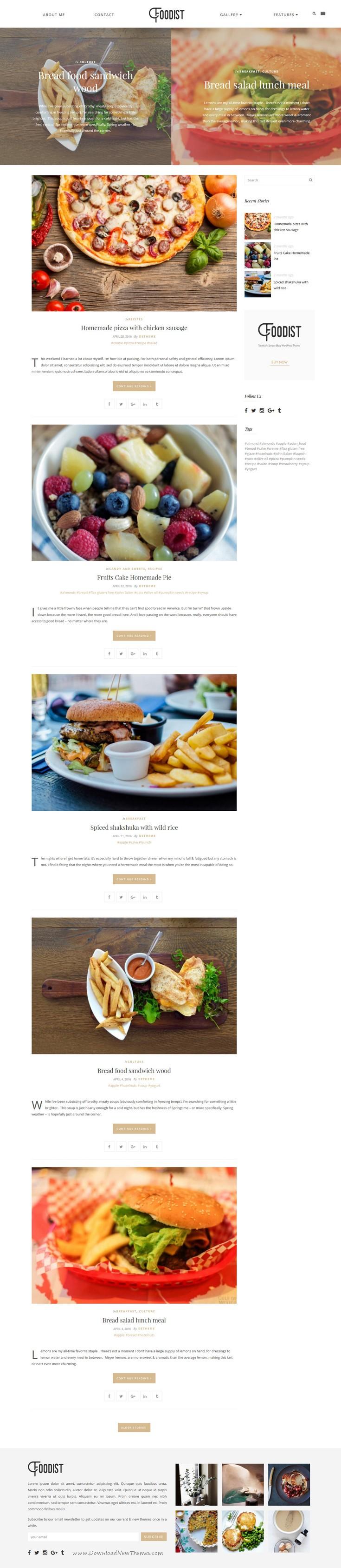 Foodist blog