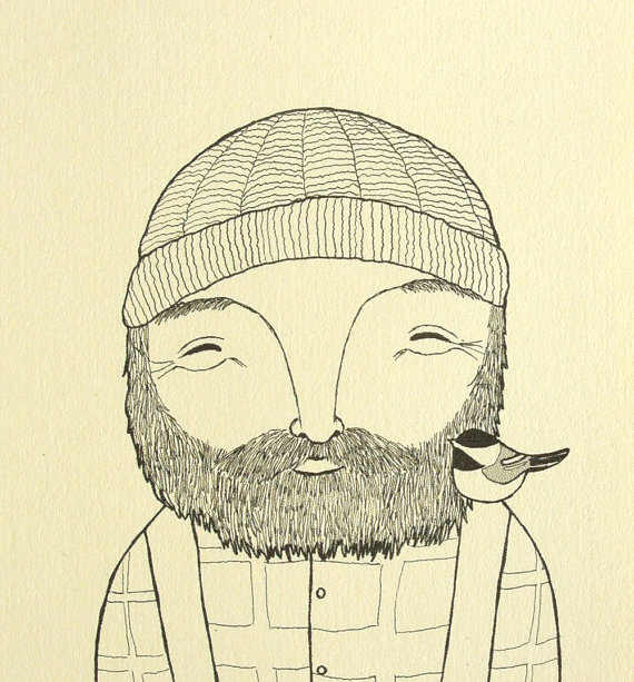 Pin By Dan Sayer On Faces Woodland Illustration Drawings