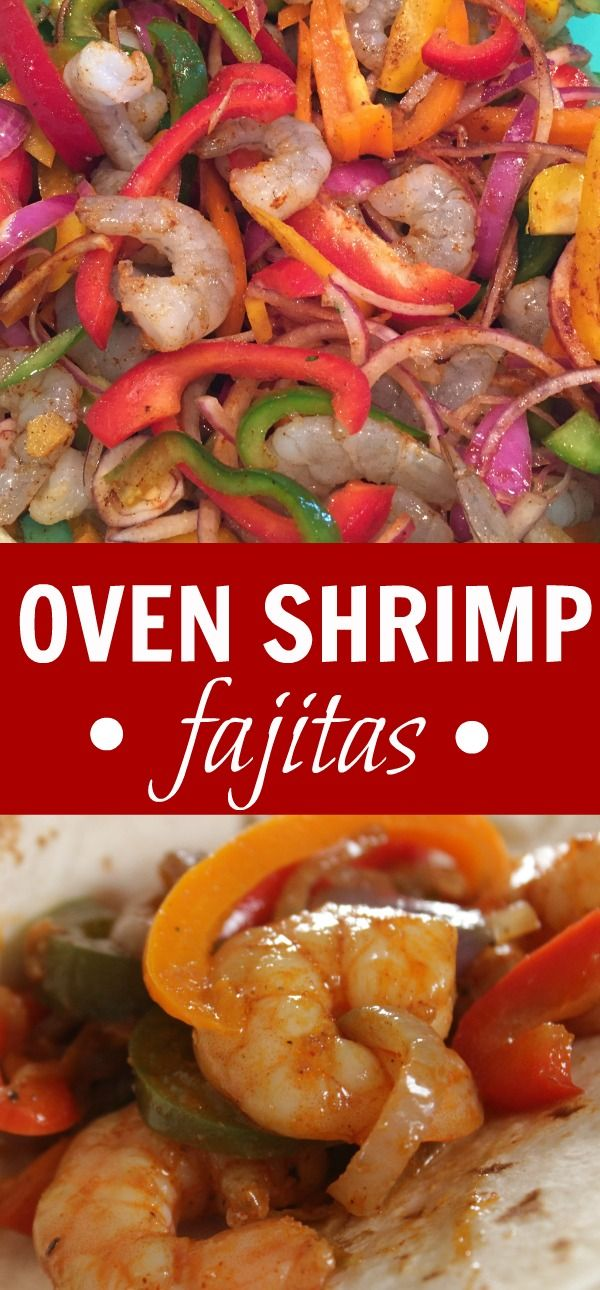 This Mexican Shrimp Fajitas Recipe is a total showstopper and I love it, too because it's so easy as it only bakes in the oven for TEN minutes!