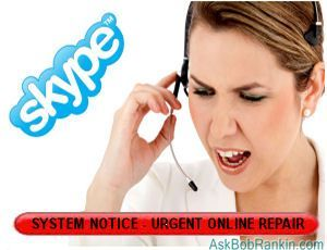 Skype Online Repair Scam: Don't fall for this.