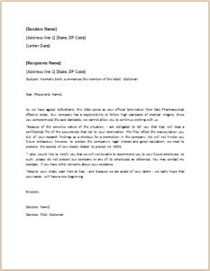 Dismissal Letter Download At HttpWwwTemplateinnCom