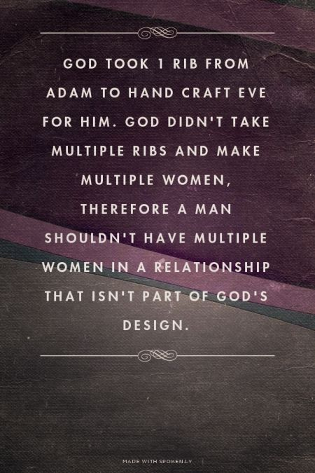 God Took 1 Rib From Adam To Hand Craft Eve For Him. God