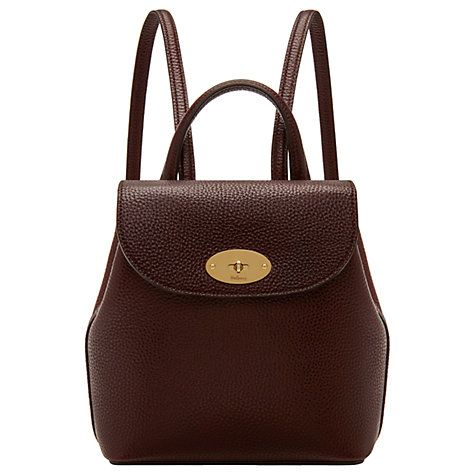 c0ca65a4135 Buy Mulberry Bayswater Leather Mini Backpack Online at johnlewis.com ...