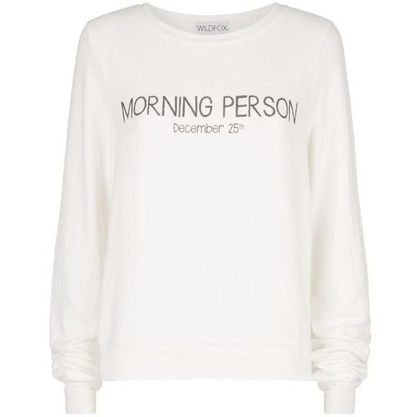 Wildfox Christmas Sweatshirt.Wildfox Morning Person Christmas Sweater Found On Polyvore