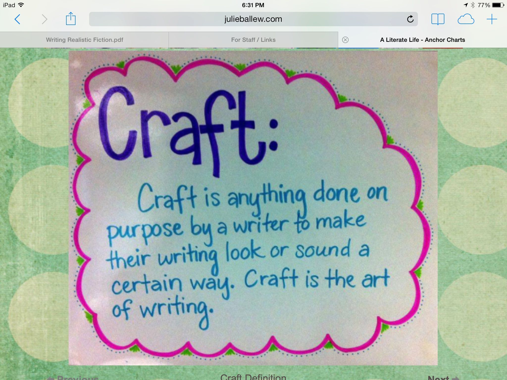 Author S Craft With Images