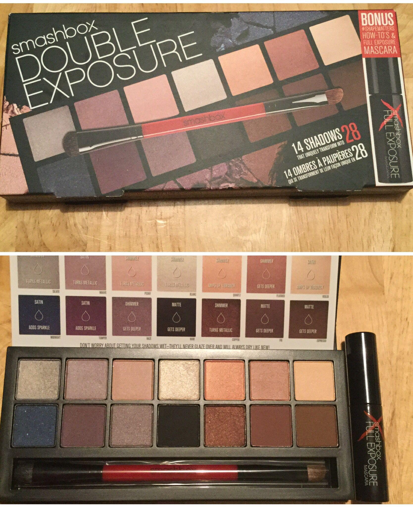 Smashbox double exposure palette wmascara u free gift