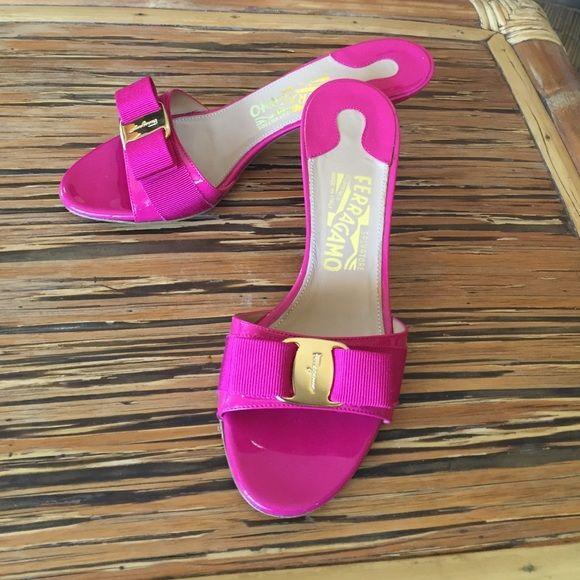Salvatore Ferragamo Hot Pink Low Heels TBA Salvatore Ferragamo Shoes Heels