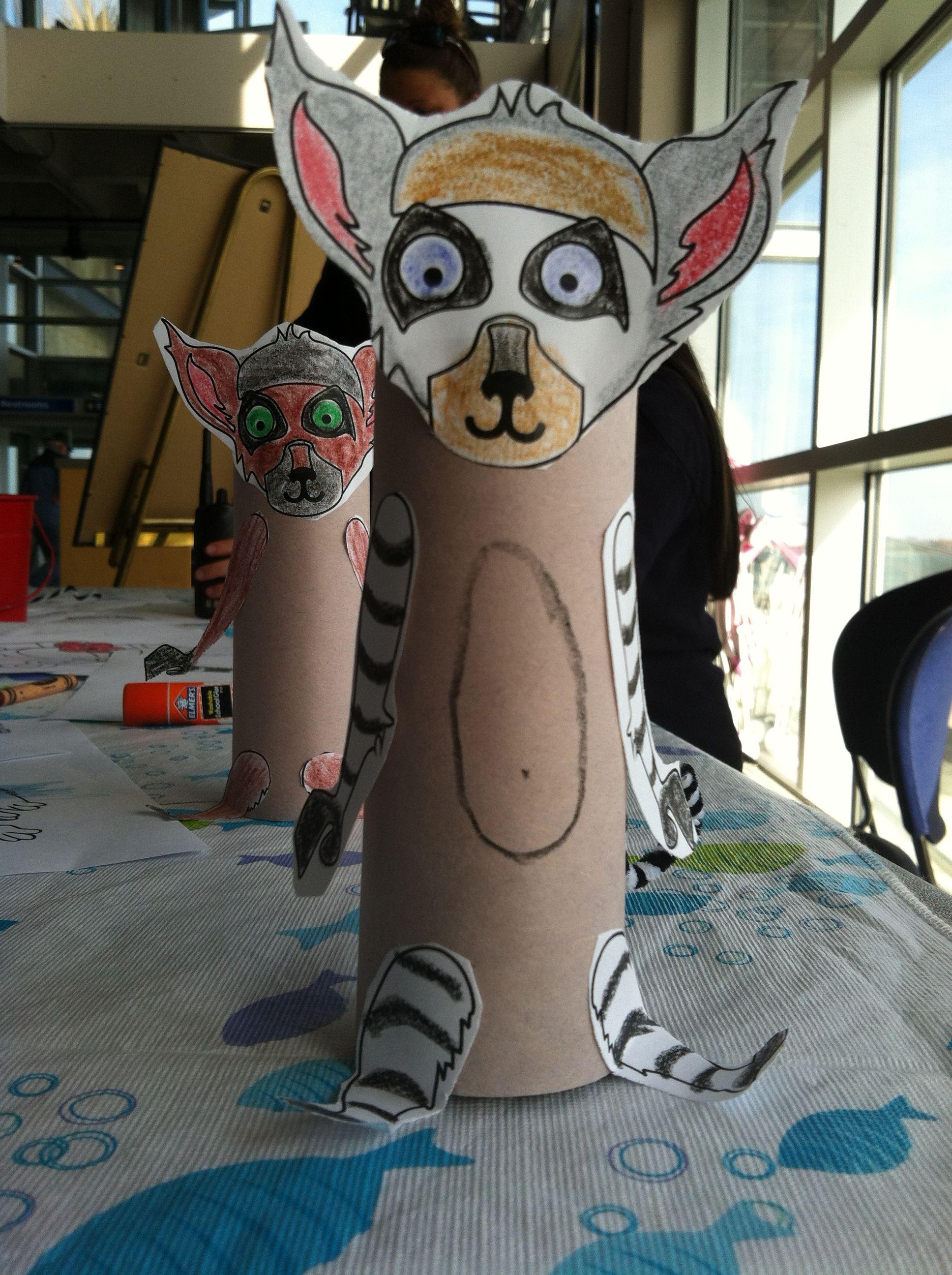 Lemur Craft We Are Doing At The Aquarium