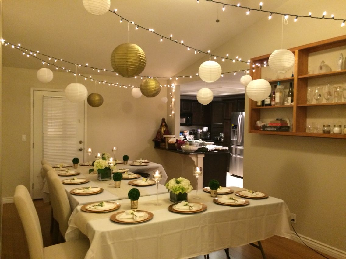 Intimate Dinner Party Ideas Part - 28: Easy Ideas For Planning An Intimate Dinner Party At Home. We Decided On  White And