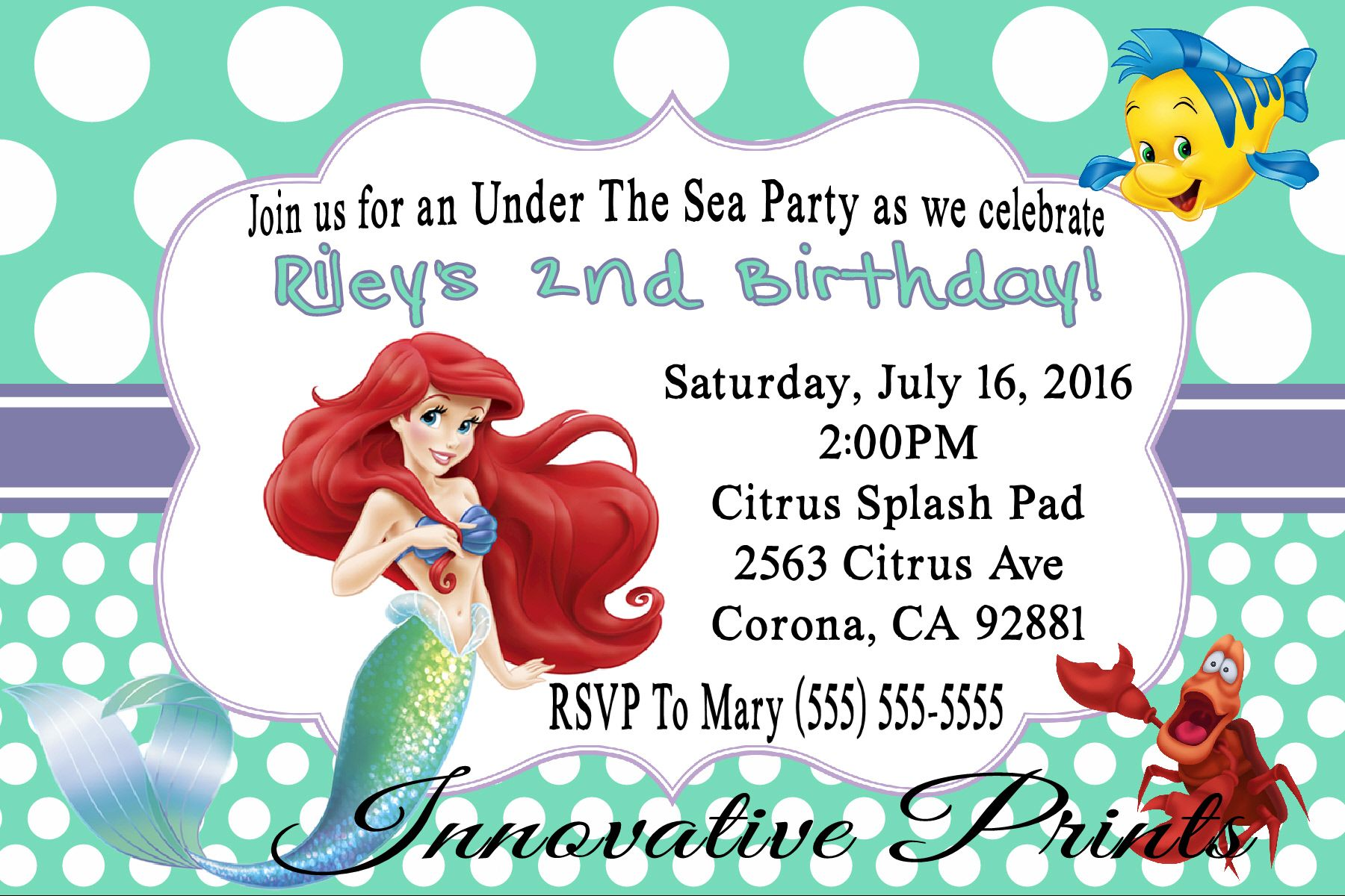 Beautiful little mermaid birthday invitations image resume ideas perfect little mermaid birthday invites festooning resume ideas filmwisefo