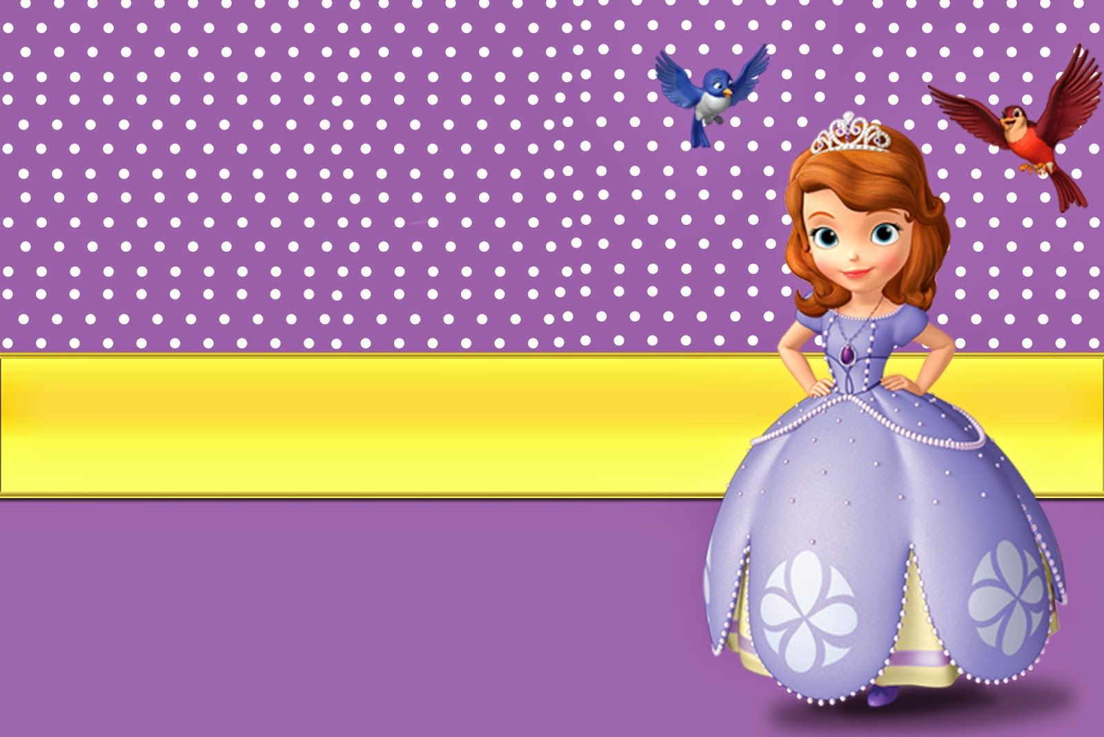 Printable Invitations Cards Or Photo Frames Princess Sofia