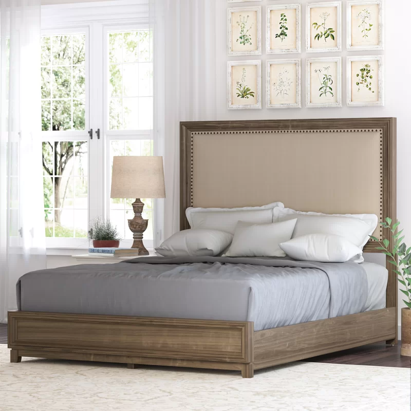 Hunziker Low Profile Standard Bed in 2020 Upholstered