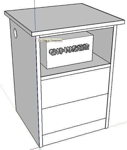 Exterior: Nightstand For CPAP Machine #6: Playing With Sketchup