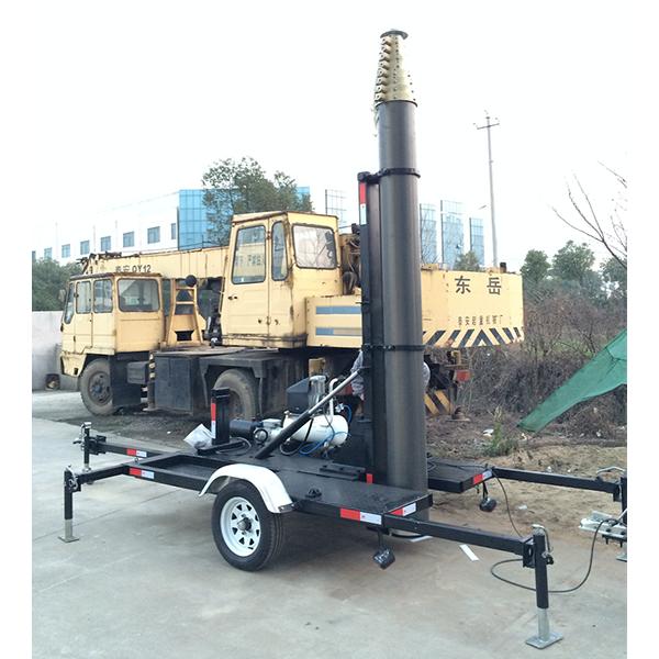 Mobile Mast Trailer System For Telecommunication Antenna